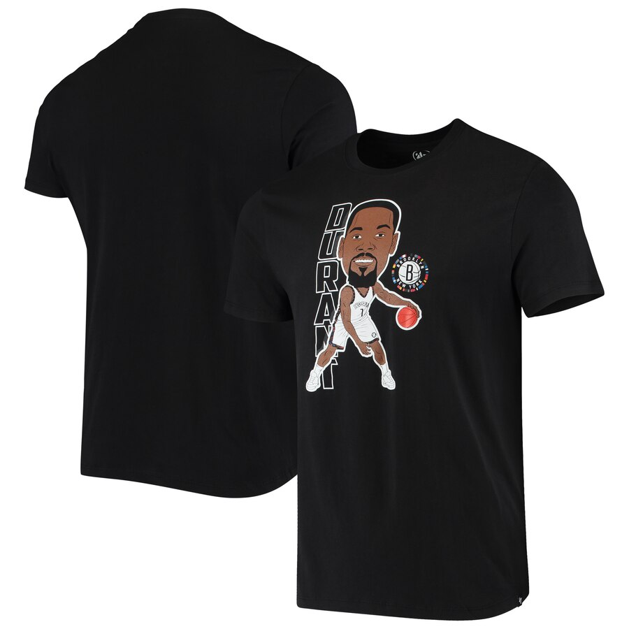 Men 2020 NBA 47 Kevin Durant Brooklyn Nets Black Bobblehead Player TShirt