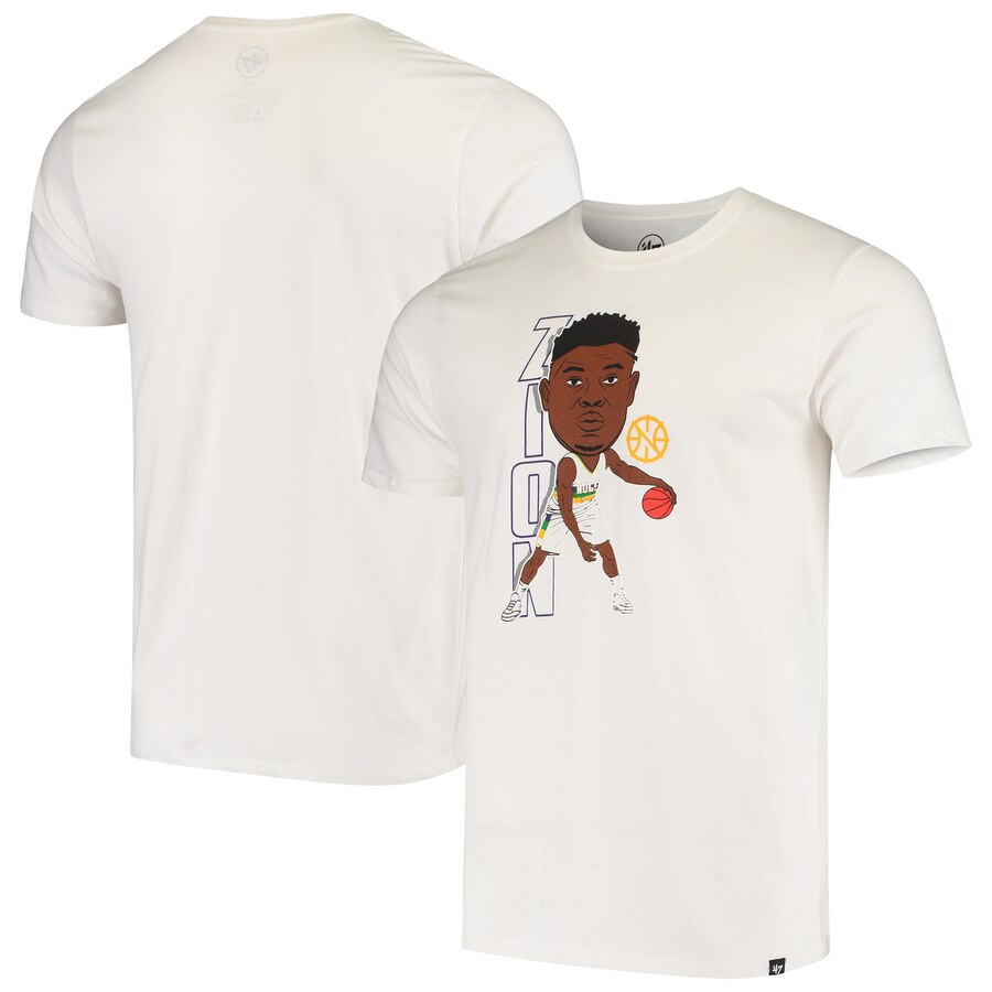 Men 2020 NBA 47 Zion Williamson New Orleans Pelicans White Bobblehead Player TShirt.