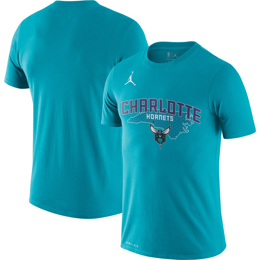 Men 2020 NBA Jordan Brand Charlotte Hornets Teal 201920 City Edition Hometown Performance TShirt