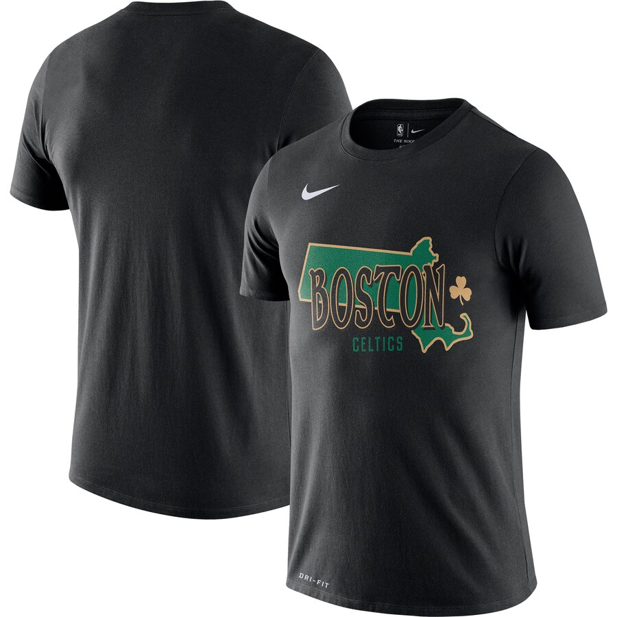 Men 2020 NBA Nike Boston Celtics Black 201920 City Edition Hometown Performance TShirt.