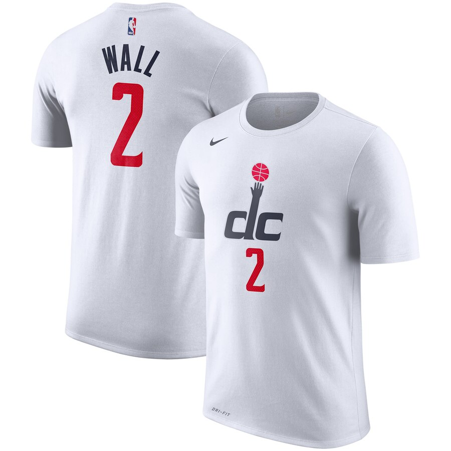 Men 2020 NBA Nike John Wall Washington Wizards White 201920 City Edition Name Number Performance TShirt