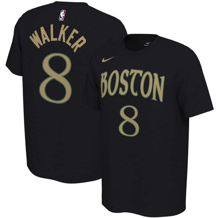 Men 2020 NBA Nike Kemba Walker Boston Celtics Black 201920 City Edition Variant Name Number TShirt