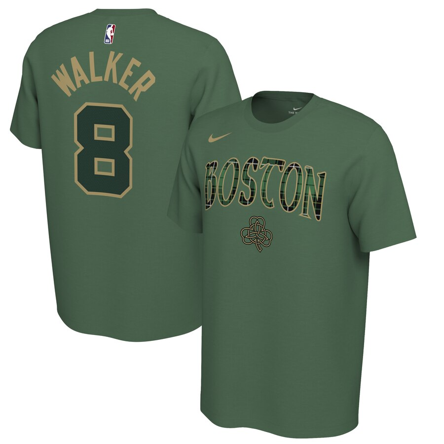 Men 2020 NBA Nike Kemba Walker Boston Celtics Green 201920 Earned Edition Name Number TShirt