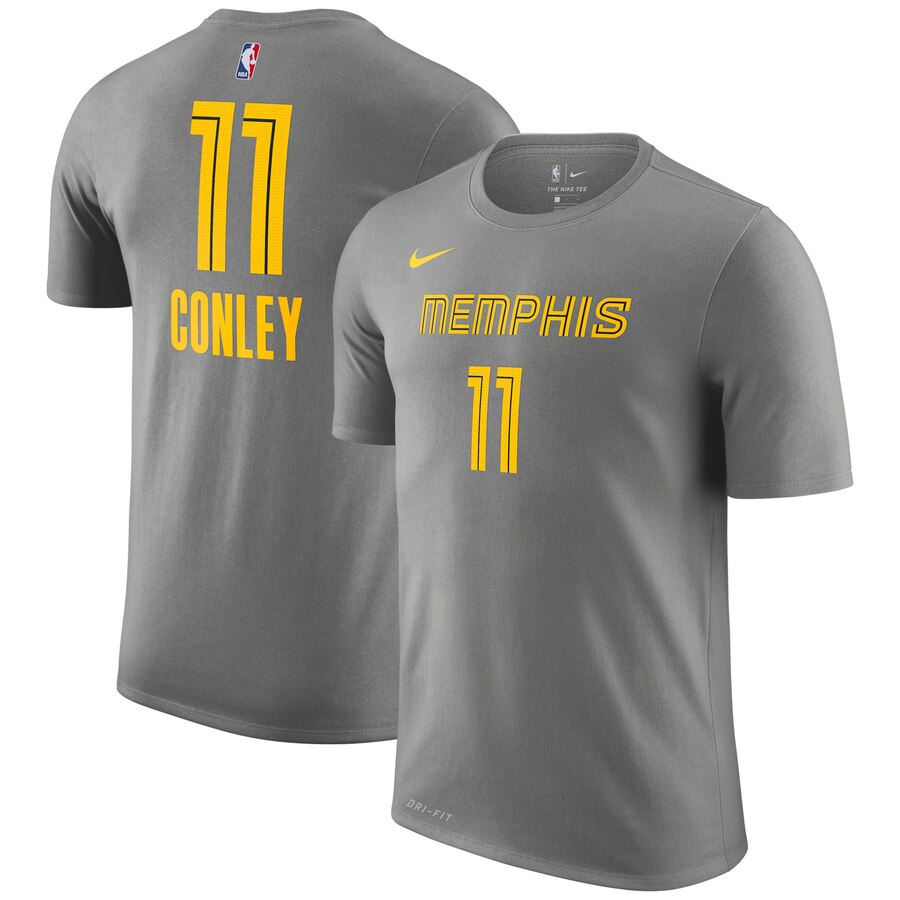Men 2020 NBA Nike Mike Conley Memphis Grizzlies Gray 201819 City Edition Name Number TShirt