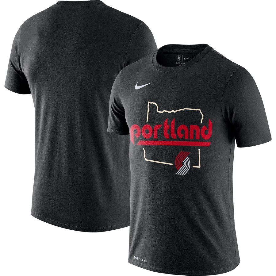 Men 2020 NBA Nike Portland Trail Blazers Black 201920 City Edition Hometown Performance TShirt