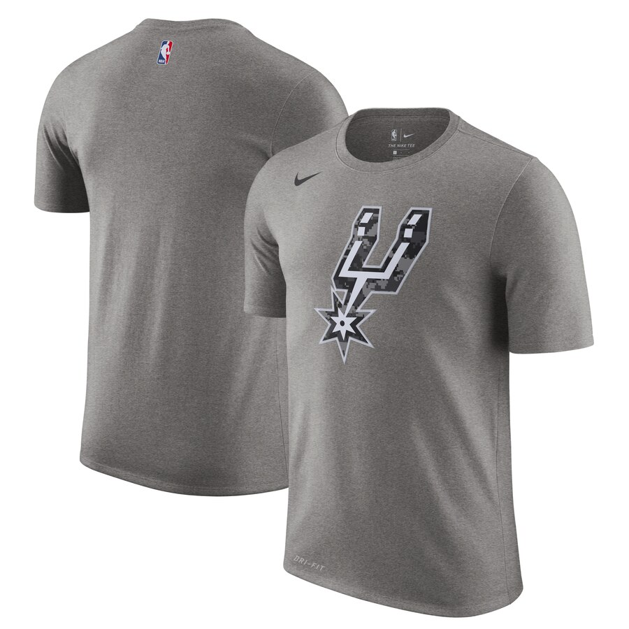 Men 2020 NBA Nike San Antonio Spurs Black City Edition Performance Cotton Essential TShirt
