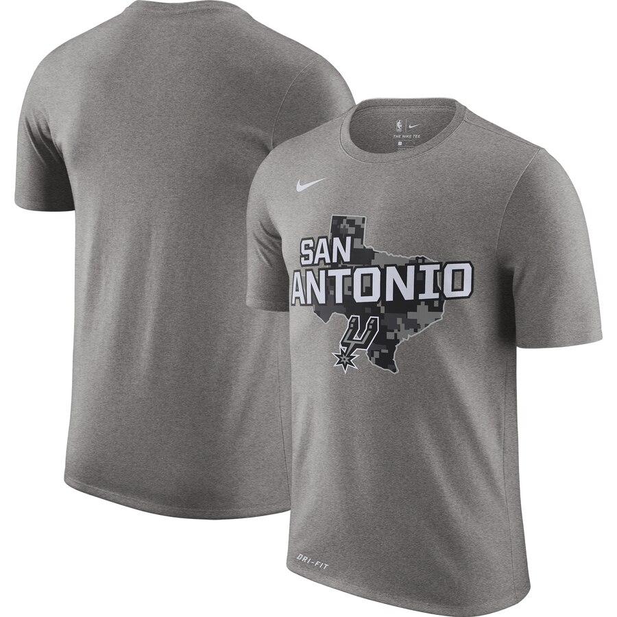 Men 2020 NBA Nike San Antonio Spurs Heather Gray 201920 City Edition Hometown Performance TShirt.