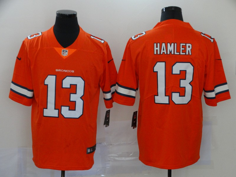 Men Denver Broncos 13 Hamler orange Nike Vapor Untouchable Limited Player NFL Jerseys