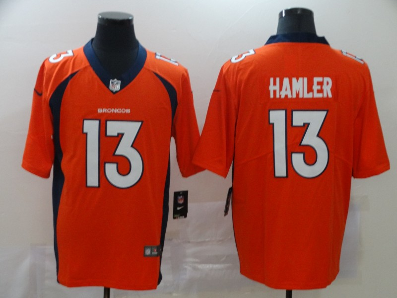 Men Denver Broncos 13 Hamler orange blue Nike Vapor Untouchable Limited Player NFL Jerseys