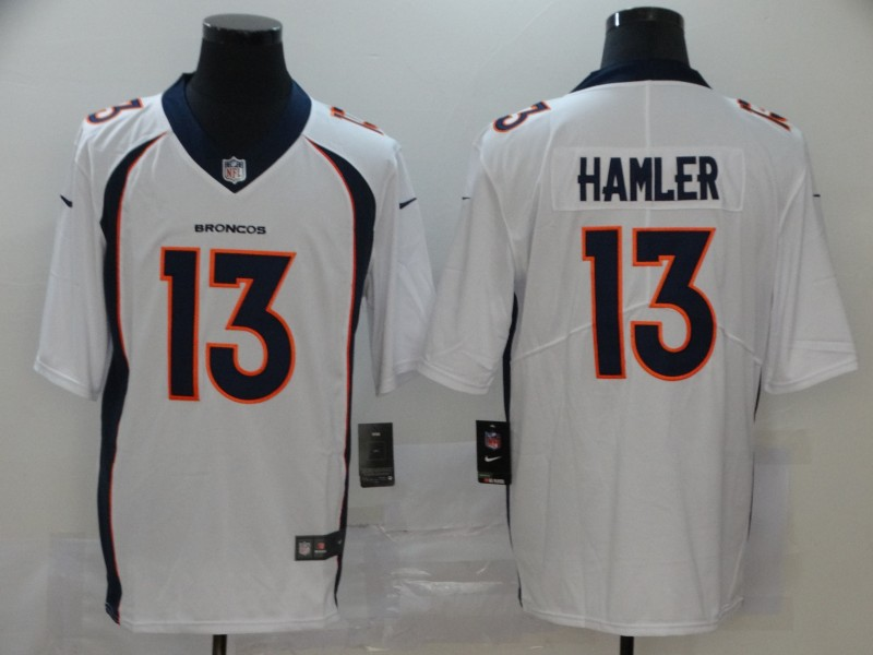 Men Denver Broncos 13 Hamler white Nike Vapor Untouchable Limited Player NFL Jerseys