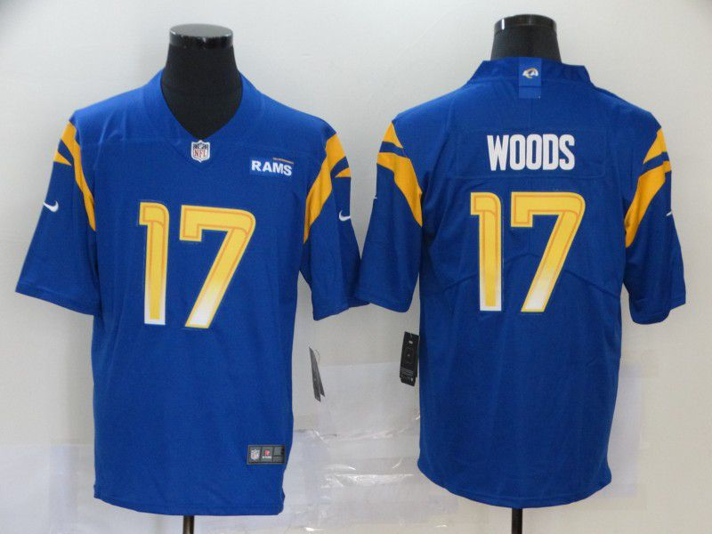 Men Los Angeles Rams 17 Woods Blue Nike Vapor Untouchable Stitched Limited NFL Jerseys