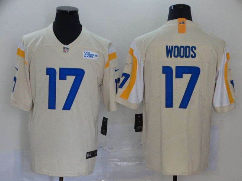 Men Los Angeles Rams 17 Woods Cream Nike Vapor Untouchable Stitched Limited NFL Jerseys