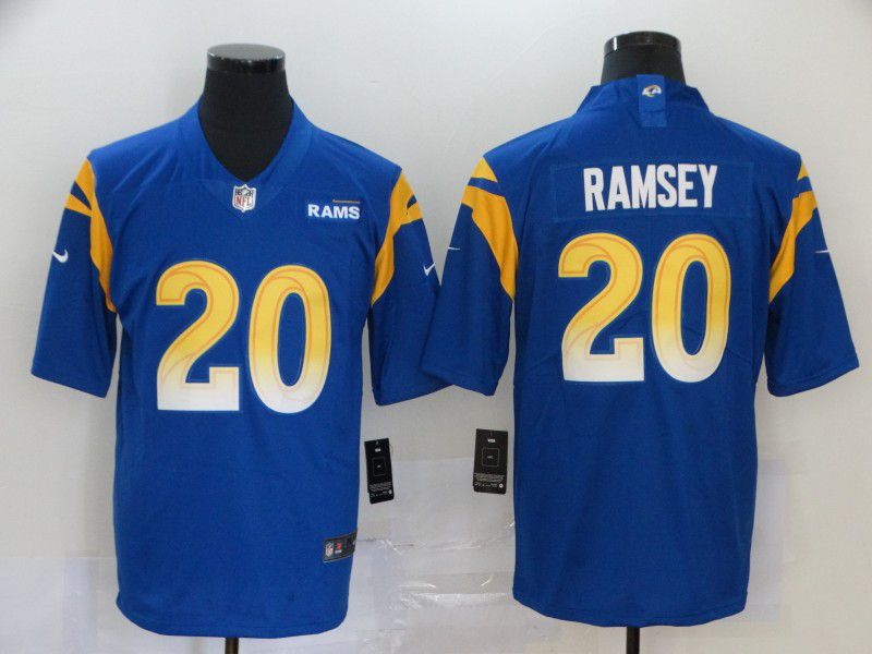 Men Los Angeles Rams 20 Ramsey Blue Nike Vapor Untouchable Stitched Limited NFL Jerseys