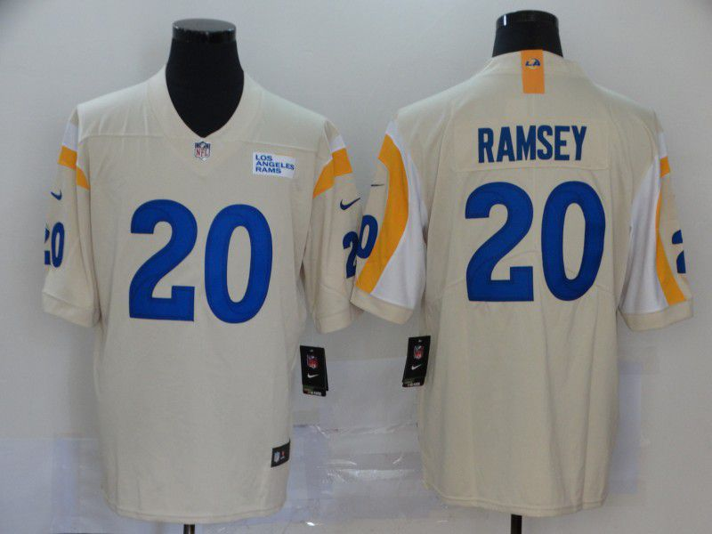 Men Los Angeles Rams 20 Ramsey Cream Nike Vapor Untouchable Stitched Limited NFL Jerseys