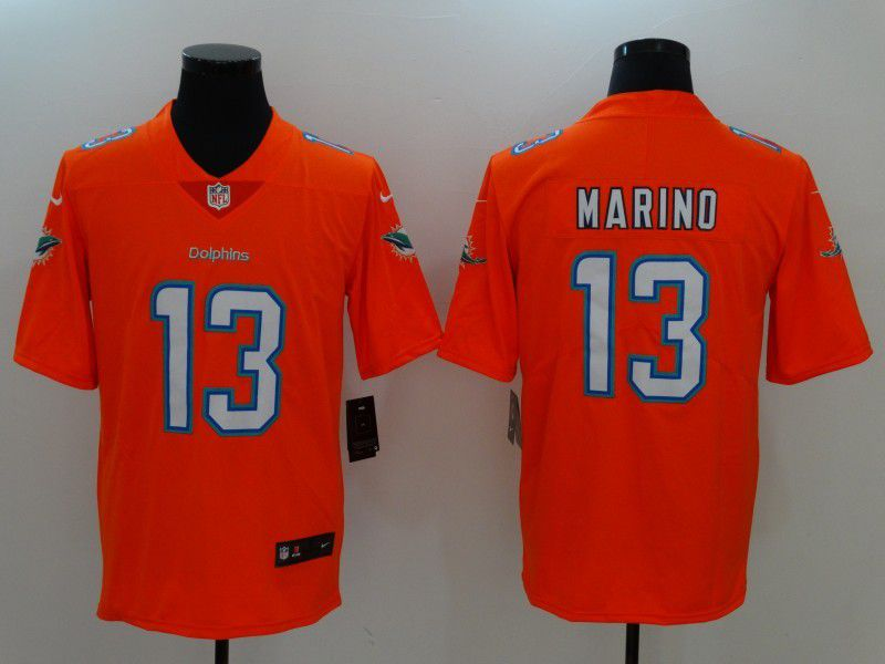 Men Miami Dolphins 13 Marino Orange Nike Vapor Untouchable Limited NFL Jerseys