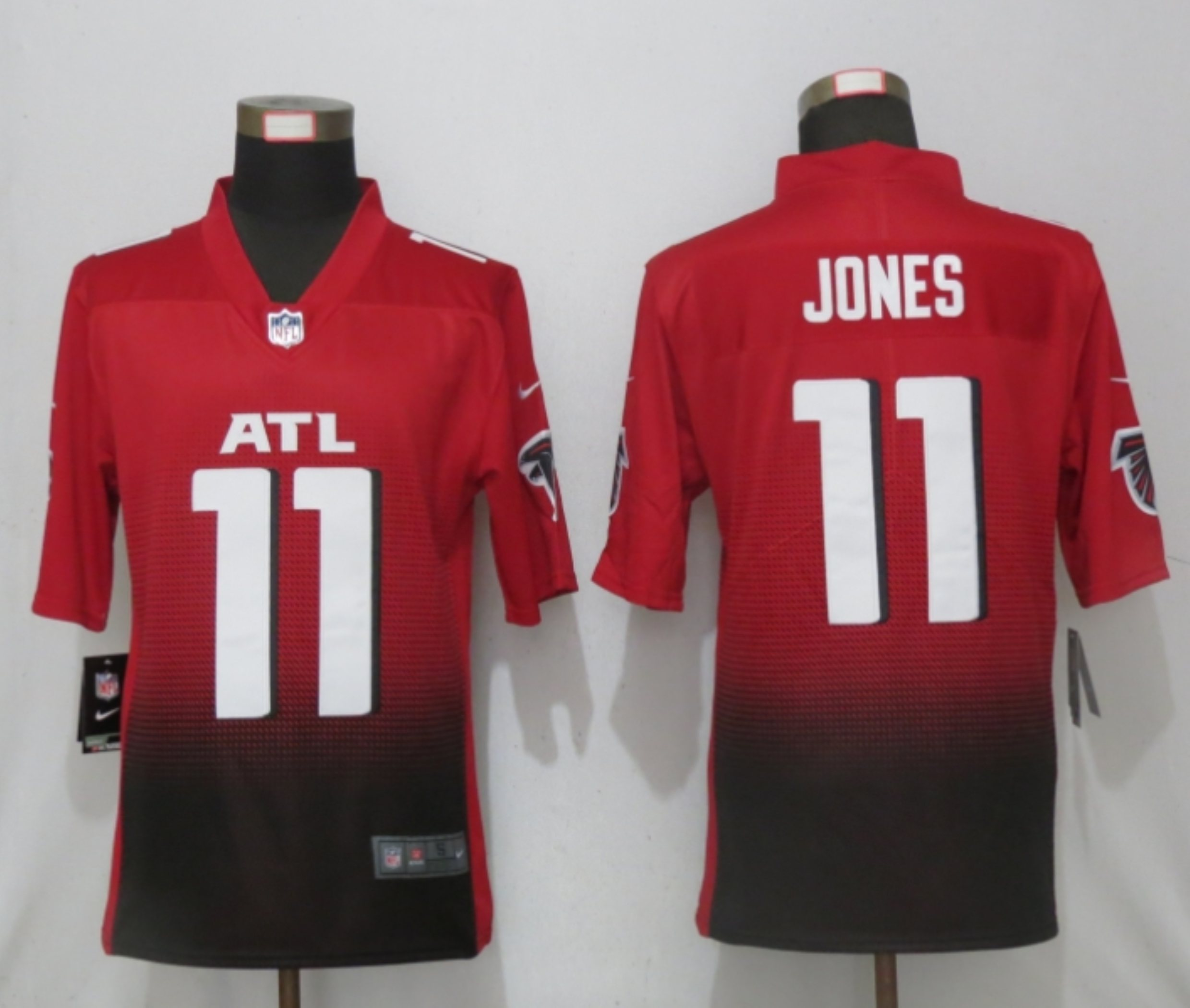 Men New Nike Atlanta Falcons 11 Jones Red 2nd Alternate Game Jersey
