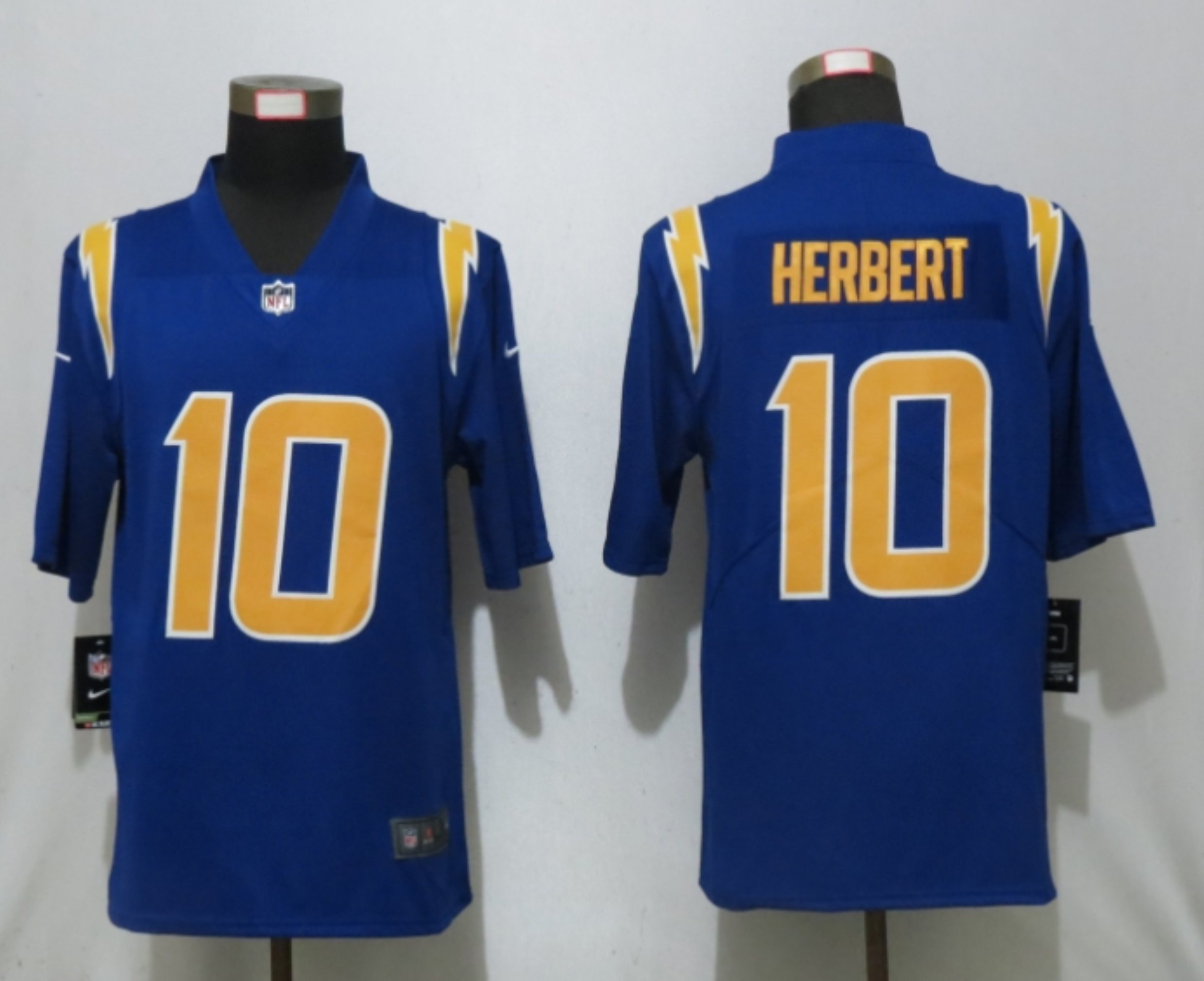 Men New Nike San Diego Chargers 10 Herbert oyal BlueLos Angeles 2nd Alternate Game Jersey