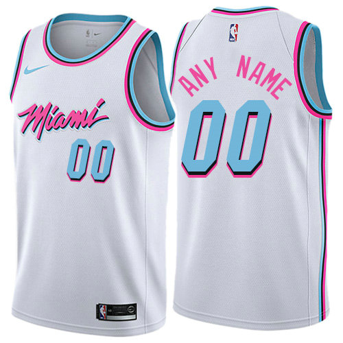Men Nike Miami Heat White NBA Swingman City Edition Custom NBA Jersey