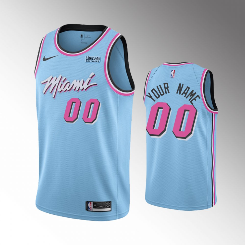 Men Nike Miami Heat light Blue NBA Swingman City Edition Custom NBA Jersey