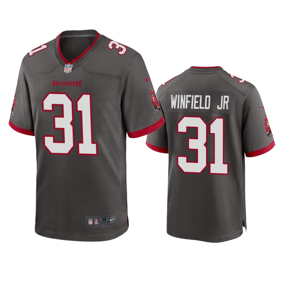 Men Nike Tampa Bay Buccaneers 31 Antoine Winfield Jr. Pewter 2020 NFL Draft Alternate Game Jersey
