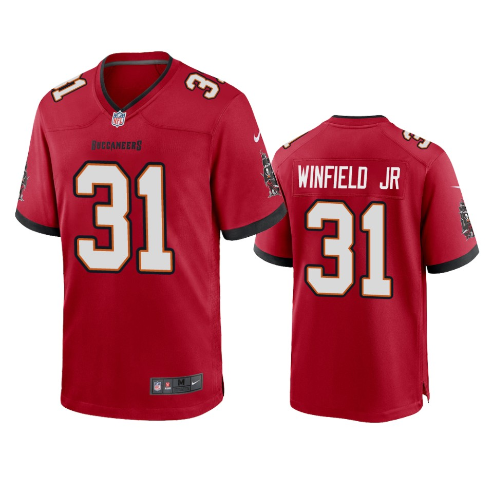 Men Nike Tampa Bay Buccaneers 31 Antoine Winfield Jr. Red 2020 NFL Draft Game Jersey