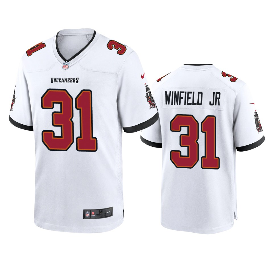 Men Nike Tampa Bay Buccaneers 31 Antoine Winfield Jr. White 2020 NFL Draft Game Jersey