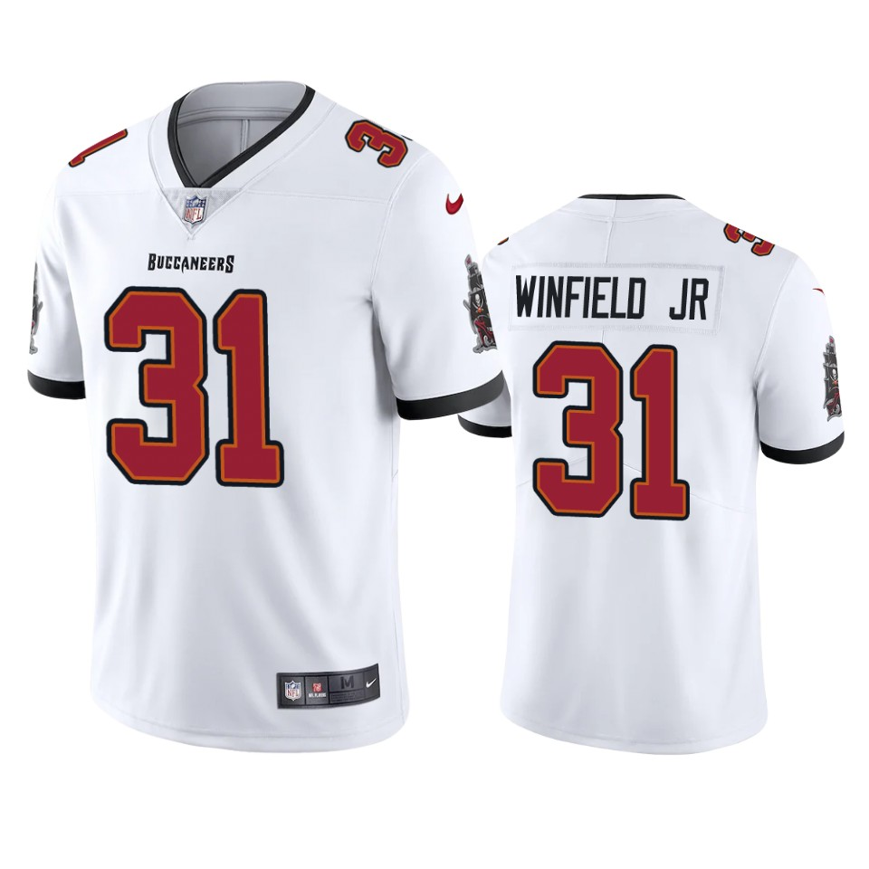 Men Nike Tampa Bay Buccaneers 31 Antoine Winfield Jr. White 2020 NFL Draft Vapor Limited Jersey