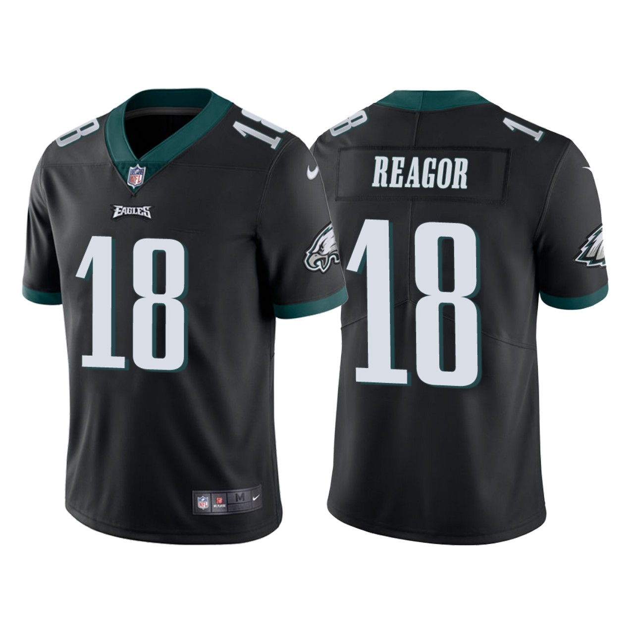 Men Philadelphia Eagles 18 Jalen Reagor Black 2020 NFL Draft Vapor Limited NFL Jersey