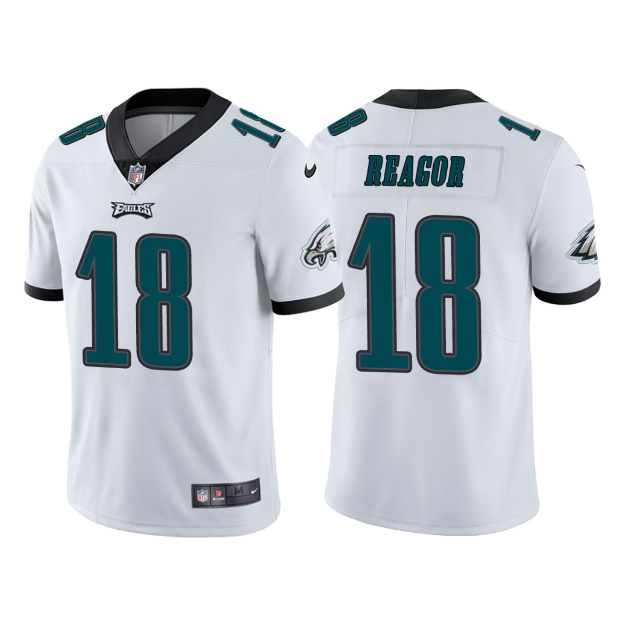 Men Philadelphia Eagles 18 Jalen Reagor White 2020 NFL Draft Vapor Limited NFL Jersey