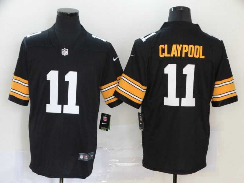 Men Pittsburgh Steelers 11 Claypool Black Nike Vapor Untouchable Limited NFL Jerseys