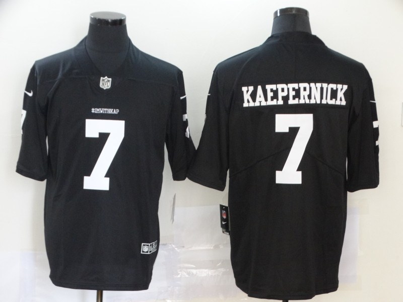 Men San Francisco 49ers 7 Kaepernick Black Nike Vapor Untouchable Limited NFL Jerseys