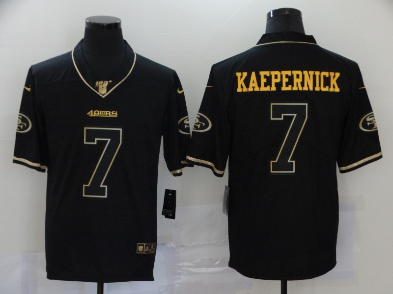 Men San Francisco 49ers 7 Kaepernick Black Nike Vapor Untouchable Limited Player NFL Jerseys