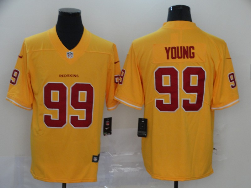 Men Washington Redskins 99 Young Yellow Nike Vapor Untouchable Stitched Limited NFL new Jerseys