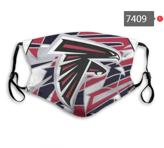 NFL 2020 Atlanta Falcons 2 Dust mask with filter