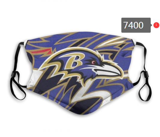 NFL 2020 Baltimore Ravens 3 Dust mask with filter