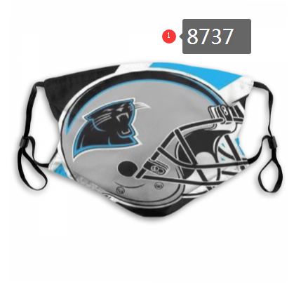 NFL 2020 Carolina Panthers Dust mask with filter