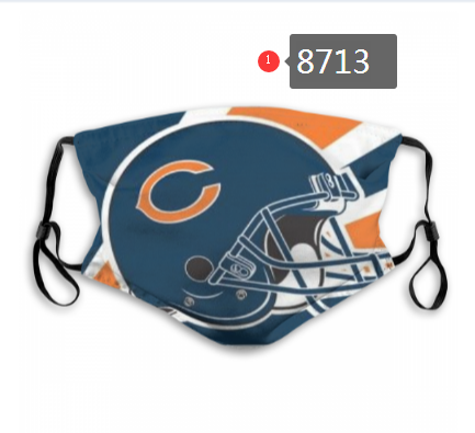 NFL 2020 Chicago Bears 3 Dust mask with filter