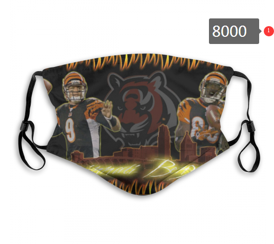 NFL 2020 Cincinnati Bengals 2 Dust mask with filter