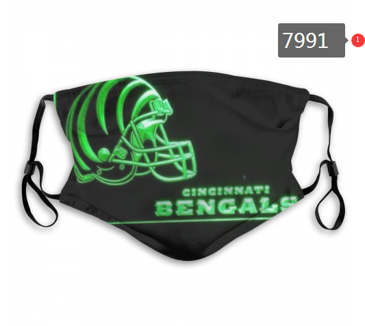 NFL 2020 Cincinnati Bengals 10 Dust mask with filter