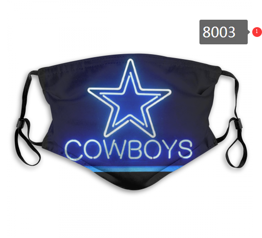 NFL 2020 Dallas Cowboys 10 Dust mask with filter