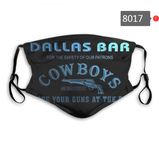 NFL 2020 Dallas Cowboys 3 Dust mask with filter
