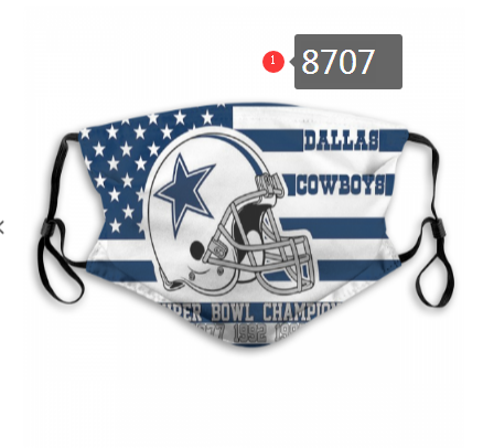 NFL 2020 Dallas Cowboys 4 Dust mask with filter
