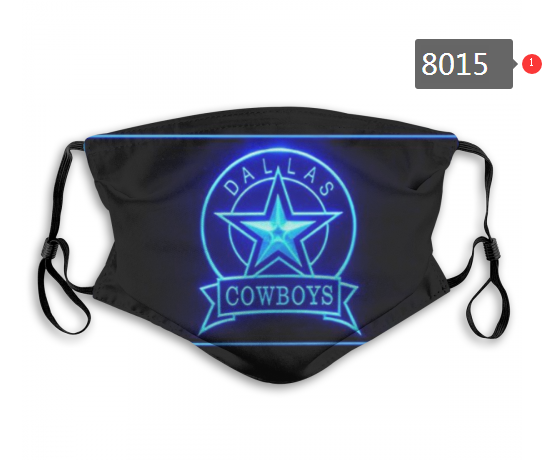 NFL 2020 Dallas Cowboys 5 Dust mask with filter