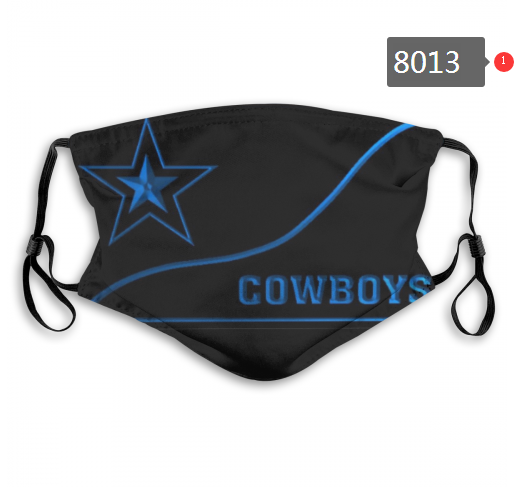 NFL 2020 Dallas Cowboys 7 Dust mask with filter