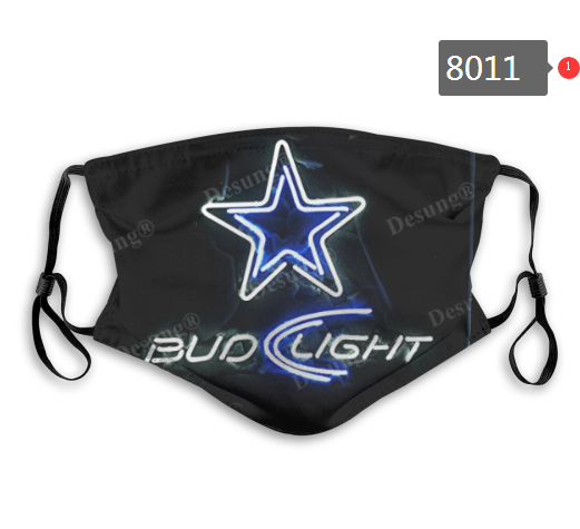 NFL 2020 Dallas Cowboys 8 Dust mask with filter