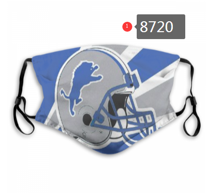 NFL 2020 Detroit Lions Dust mask with filter