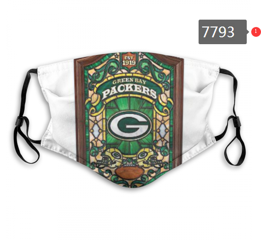 NFL 2020 Green Bay Packers 12 Dust mask with filter