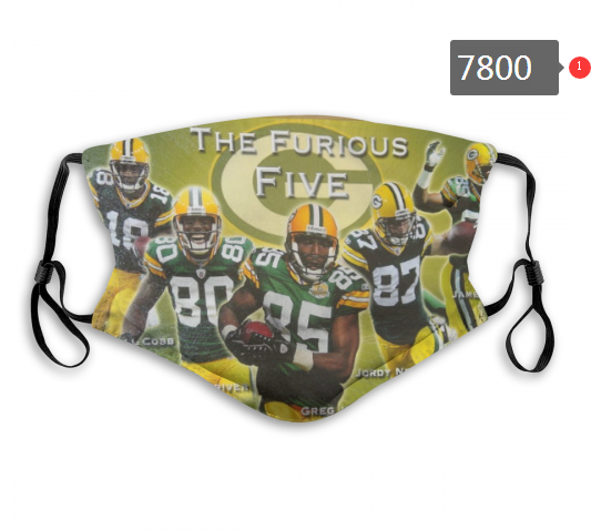 NFL 2020 Green Bay Packers 6 Dust mask with filter