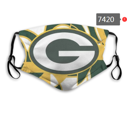 NFL 2020 Green Bay Packers 76 Dust mask with filter