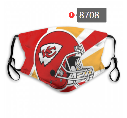 NFL 2020 Kansas City Chiefs 4 Dust mask with filter